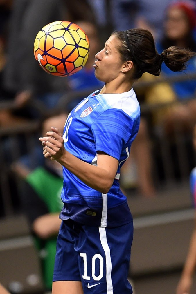 Carli Lloyd vs. China, Dec. 16, 2015. (Stacy Revere/Getty Images)