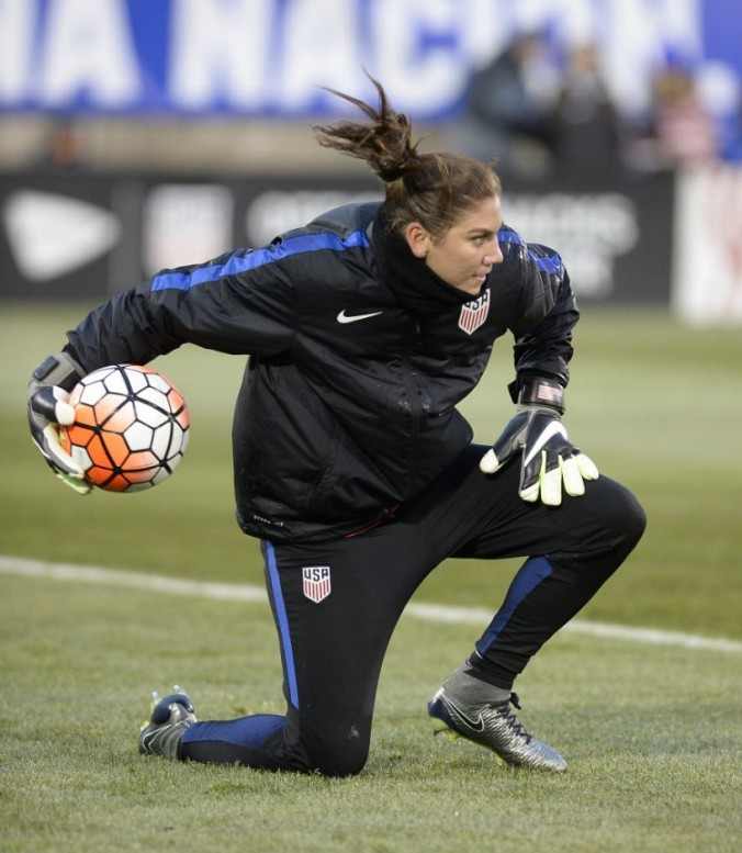 Starting XI vs. Colombia, East Hartford, Conn., April 6, 2016. (Jessica Hill/AP)